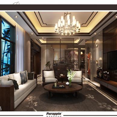 新中式风格双拼别墅设计_1850922