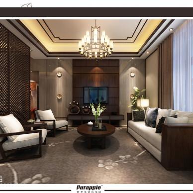 新中式风格双拼别墅设计_1850923