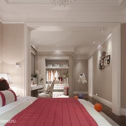 混搭风格样板房卧室衣帽间设计