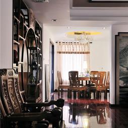 中式风客厅过道装修设计