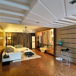 现代时尚风格客厅吊顶装修效果图