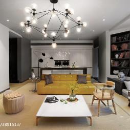 别墅混搭客厅吊顶装修设计