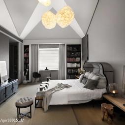 別墅混搭臥室窗簾裝修設計