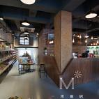 饮品店吧台吊顶设计效果图
