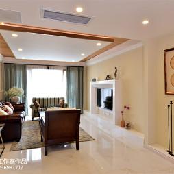 四居美式客厅吊顶装修设计