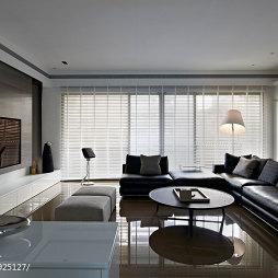 三居现代客厅落地窗装修设计