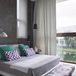 混搭卧室阳台样板间设计效果图