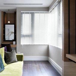 三居室现代休闲区窗户装修图片