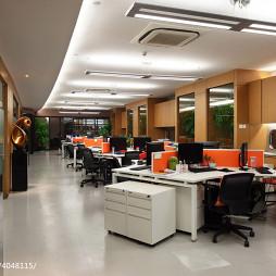 办公楼办公区装修效果图