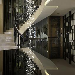 混搭楼梯样板间设计