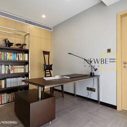 时尚现代风书房书柜装修效果图