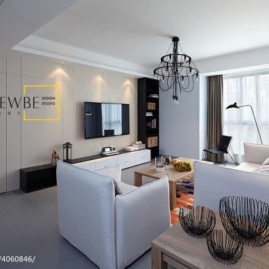 三居时尚现代客厅隐形门装修设计