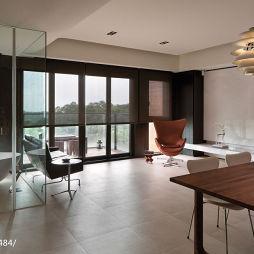 三居室现代餐厅客厅一体设计