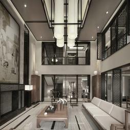 混搭风格别墅客厅隔断设计