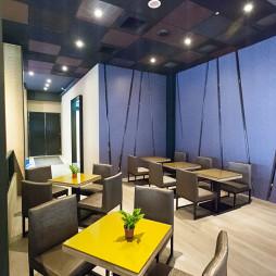 混搭西餐厅吊顶设计效果图