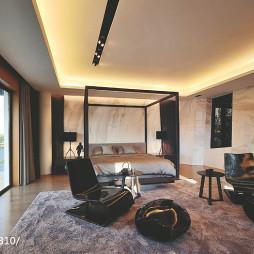 混搭后现代别墅卧室阳台装修设计