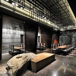 日本料理餐厅隔断装修效果图