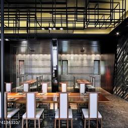 日本料理餐厅吊顶装修设计