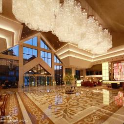 高级度假酒店大堂装修效果图