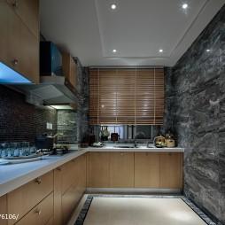 混搭风格厨房吊顶样板间图片