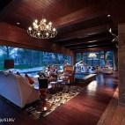 别墅会所客厅落地窗装修设计