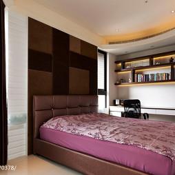 现代风卧室书柜装修效果图