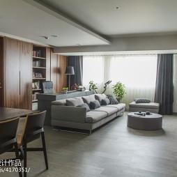 混搭客厅家居置物架装修设计
