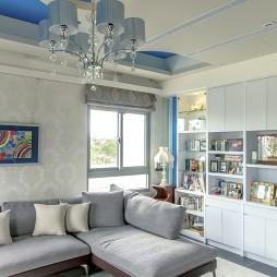 复式混搭客厅吊顶设计
