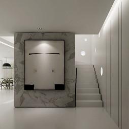 现代风格样板房楼梯装修设计