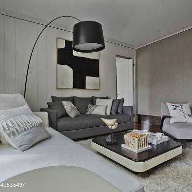 混搭樣板房客廳裝修設計效果圖