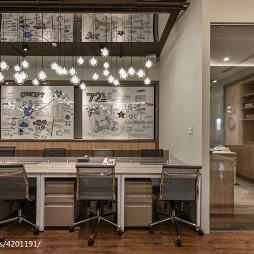 金融办公室隔断装修设计