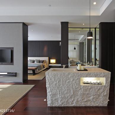 私人休闲会所客厅隔断设计效果图