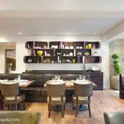 意大利餐厅服务台装修设计