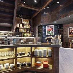 意大利餐厅服务台设计效果图