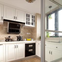 现代美式厨房隔断装修图片