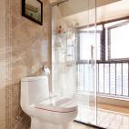 现代美式卫生间窗户装修图片