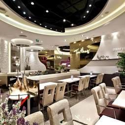 高级西餐厅吊顶装修设计效果图
