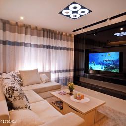 现代简约风格客厅电视墙设计效果图