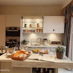 混搭厨房石英石橱柜台面装修图片