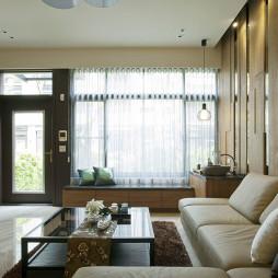 简约中式风格客厅榻榻米装修设计