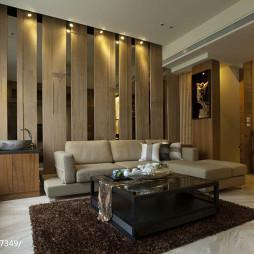 简约中式风格客厅隔断装修设计