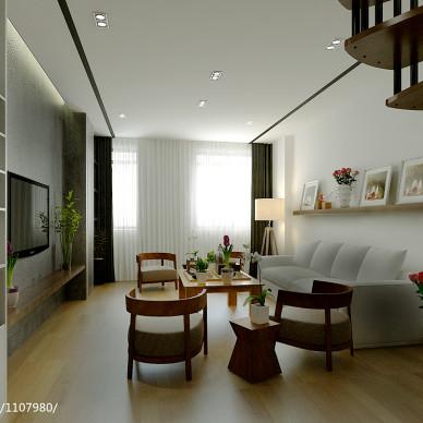 现代80平米客厅设计效果图