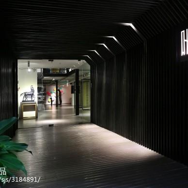 叶迹办公室:极具艺术气息的loft开放空间_1901834