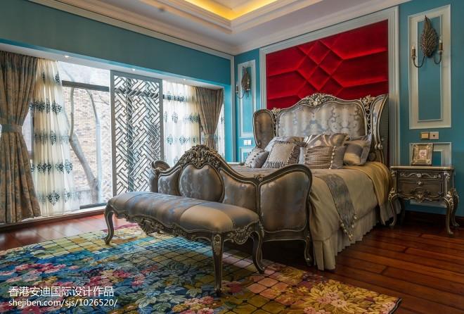 混搭别墅楼中楼卧室装修效果图图片