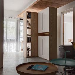 三居混搭风格客厅收纳装修效果图