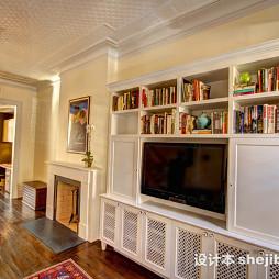 家居电视背景柜装修设计