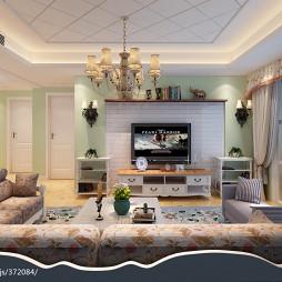 田园风格电视墙的设计效果图