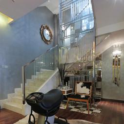 混搭风格楼梯样板间设计