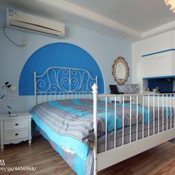 小户型地中海卧室隔断设计