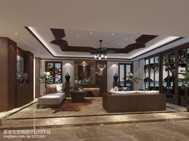 东南亚风格别墅客厅装修设计图片